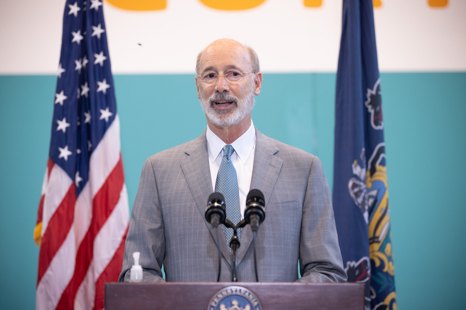 """<a href=""""https://filesource.wostreaming.net/commonwealthofpa/photo/18815_gov_voterRights_dz_013.jpg"""" target=""""_blank"""">⇣Download Photo<br></a>Pennsylvania Governor Tom Wolf speaking with the press.  With some politicians spreading lies about our elections to divide us, Governor Tom Wolf today vowed to protect the freedom to vote and oppose legislation that would create barriers to voting and silence the voices of some Pennsylvanians. These are the same lies that led directly to the appalling assault on our U.S. Capitol and our democracy on January 6, and now, just a few short months later, the same people who fomented, encouraged, and joined that mob are again emerging to undermine the fabric of our nation.   Harrisburg, PA  June 9, 2021"""