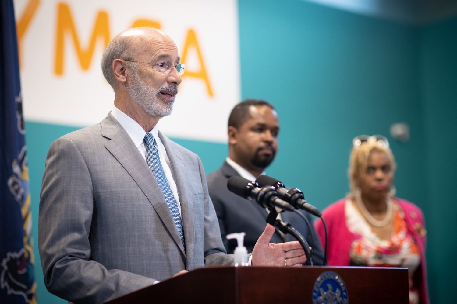 """<a href=""""https://filesource.wostreaming.net/commonwealthofpa/photo/18815_gov_voterRights_dz_017.jpg"""" target=""""_blank"""">⇣Download Photo<br></a>Pennsylvania Governor Tom Wolf speaking with the press.  With some politicians spreading lies about our elections to divide us, Governor Tom Wolf today vowed to protect the freedom to vote and oppose legislation that would create barriers to voting and silence the voices of some Pennsylvanians. These are the same lies that led directly to the appalling assault on our U.S. Capitol and our democracy on January 6, and now, just a few short months later, the same people who fomented, encouraged, and joined that mob are again emerging to undermine the fabric of our nation.   Harrisburg, PA  June 9, 2021"""