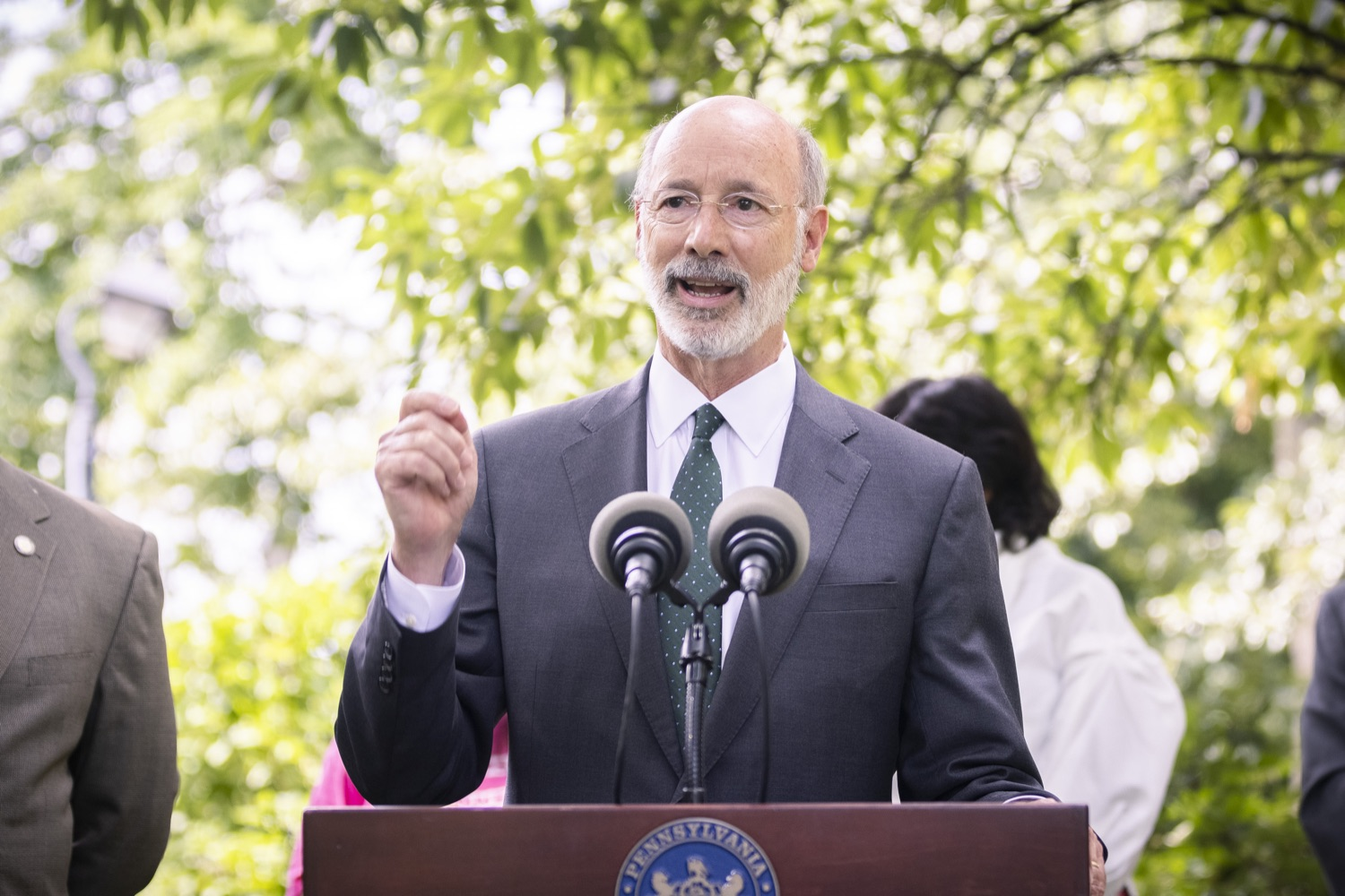 """<a href=""""https://filesource.wostreaming.net/commonwealthofpa/photo/18819_gov_reprodRights_dz_015.jpg"""" target=""""_blank"""">⇣Download Photo<br></a>Pennsylvania Governor Tom Wolf speaking with the press. Pennsylvania Governor Tom Wolf speaking with the press. Governor Wolf will discuss proposed anti-choice legislation that is moving through the House of Representatives and reaffirm that he will veto this damaging legislation.  JUNE 10, 2021 - PHILADELPHIA, PA"""