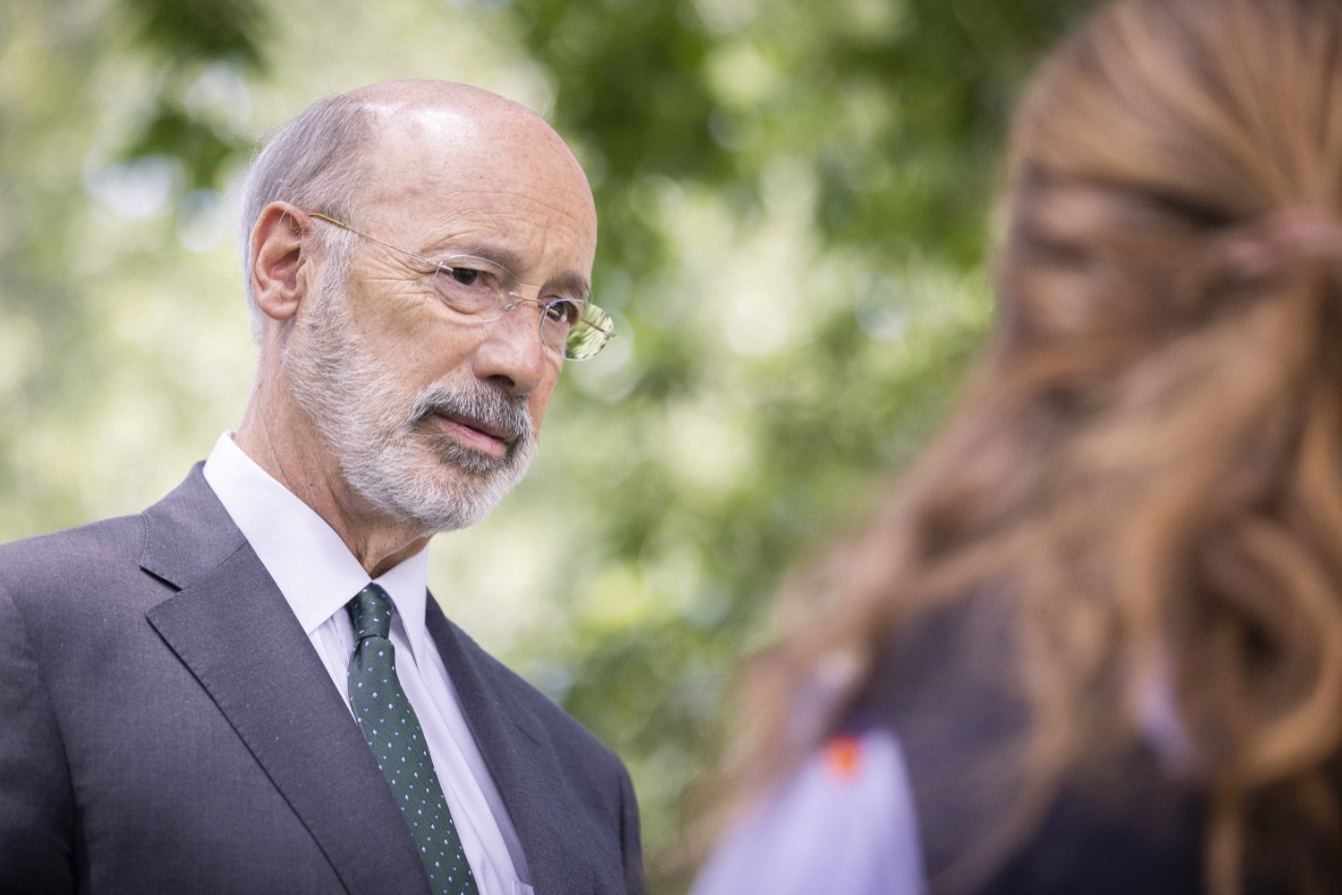 """<a href=""""https://filesource.wostreaming.net/commonwealthofpa/photo/18819_gov_reprodRights_dz_016.jpg"""" target=""""_blank"""">⇣Download Photo<br></a>Pennsylvania Governor Tom Wolf speaking with event atendees.  Governor Wolf will discuss proposed anti-choice legislation that is moving through the House of Representatives and reaffirm that he will veto this damaging legislation.  JUNE 10, 2021 - PHILADELPHIA, PA"""