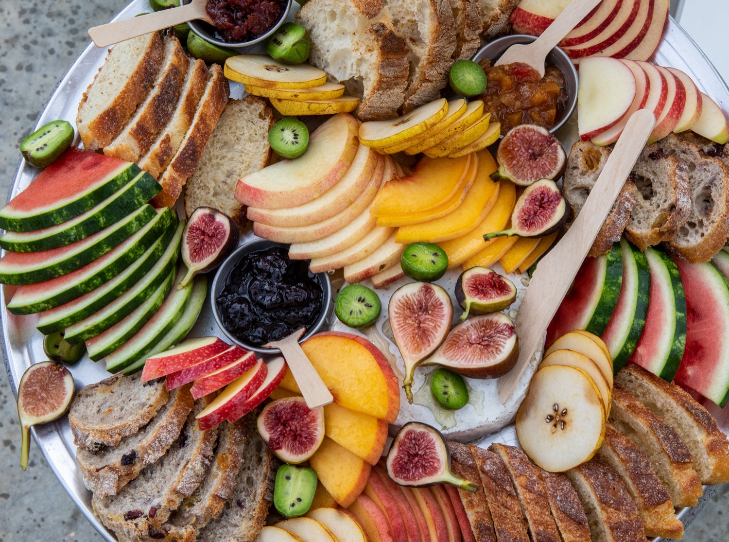 """<a href=""""https://filesource.wostreaming.net/commonwealthofpa/photo/18869_20063_DCED_CulinaryTrails_AG_11.jpg"""" target=""""_blank"""">⇣Download Photo<br></a>A charcuterie board made by Talking  Breads was on display at Wednesdays event.  First Lady Frances Wolf and Department of Community and Economic Development (DCED) Deputy Secretary for Marketing, Tourism & Film Carrie Fischer Lepore  celebrated Pennsylvanias rich food history and heritage with the launch of four new culinary trails: Picked: An Apple Trail; Baked: A Bread Trail; Chopped: A Charcuterie Trail; and Pickled: A Fermented Trail.  Mechanicsburg, PA - September 22, 2021"""