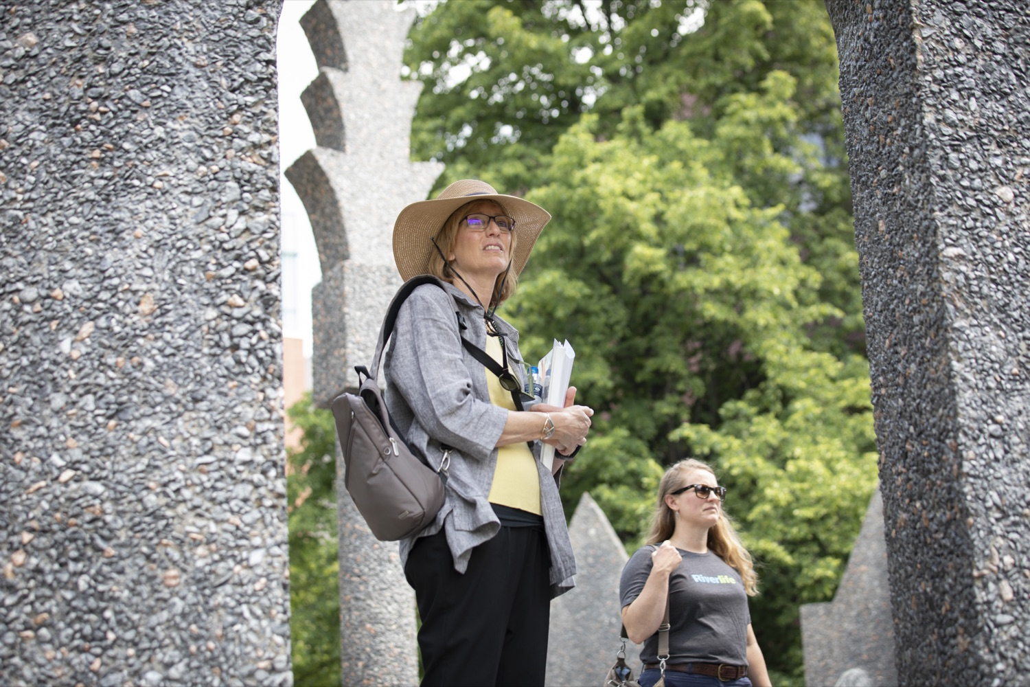 """<a href=""""https://filesource.wostreaming.net/commonwealthofpa/photo/18880_fl_outdooropportunites_cz_17.jpg"""" target=""""_blank"""">⇣Download Photo<br></a>Secretary of DCNR Cindy Dunn tours Allegheny Landing park to promote outdoor opportunities on July 7, 2021."""