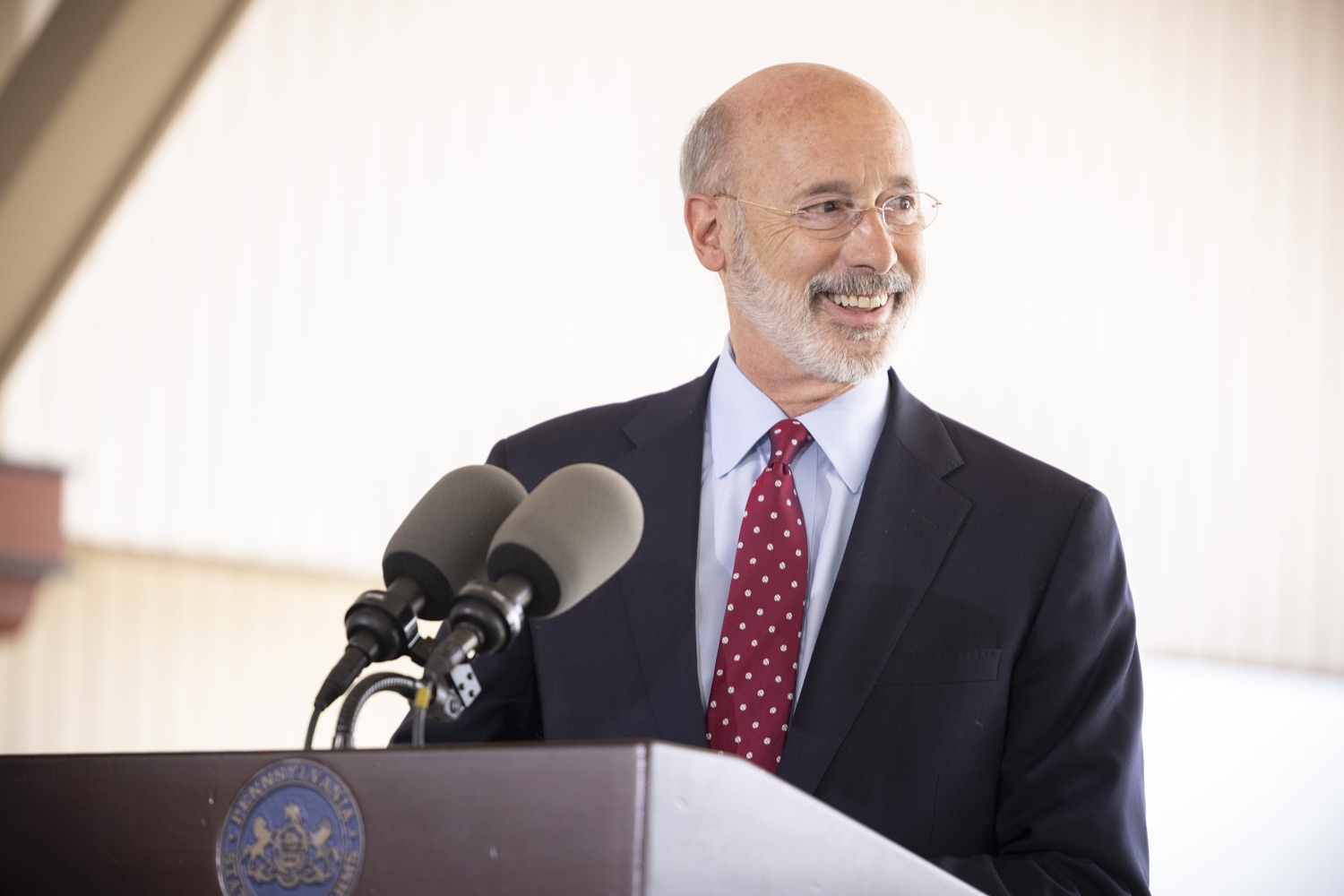 """<a href=""""https://filesource.wostreaming.net/commonwealthofpa/photo/18932_gov_chirp_dz_019.jpg"""" target=""""_blank"""">⇣Download Photo<br></a>Pennsylvania Governor Tom Wolf speaking with the press.  Governor Tom Wolf today joined the Pennsylvania Department of Community and Economic Development, Bucks County Commissioners, Bristol Borough Mayor Joseph Saxton, local lawmakers, Bucks County Economic Development Corporation, Visit Bucks County, the Bucks County Redevelopment Authority, and the owners of Itri Wood Fired to highlight the $7 million in grant funding provided to Bucks County restaurants through the COVID-19 Hospitality Industry Recovery Program(CHIRP).  JULY 16, 2021 - BRISTOL, PA"""