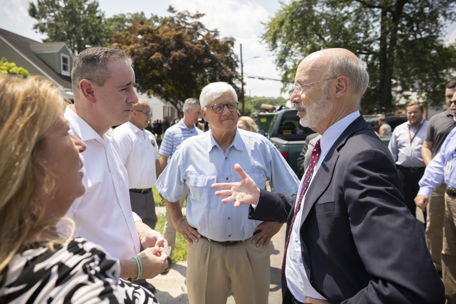"""<a href=""""https://filesource.wostreaming.net/commonwealthofpa/photo/18934_gov_stormDamage_04.jpg"""" target=""""_blank"""">⇣Download Photo<br></a>Gov. Wolf Tours Bucks County Communities Affected by Severe Weather, Flooding"""