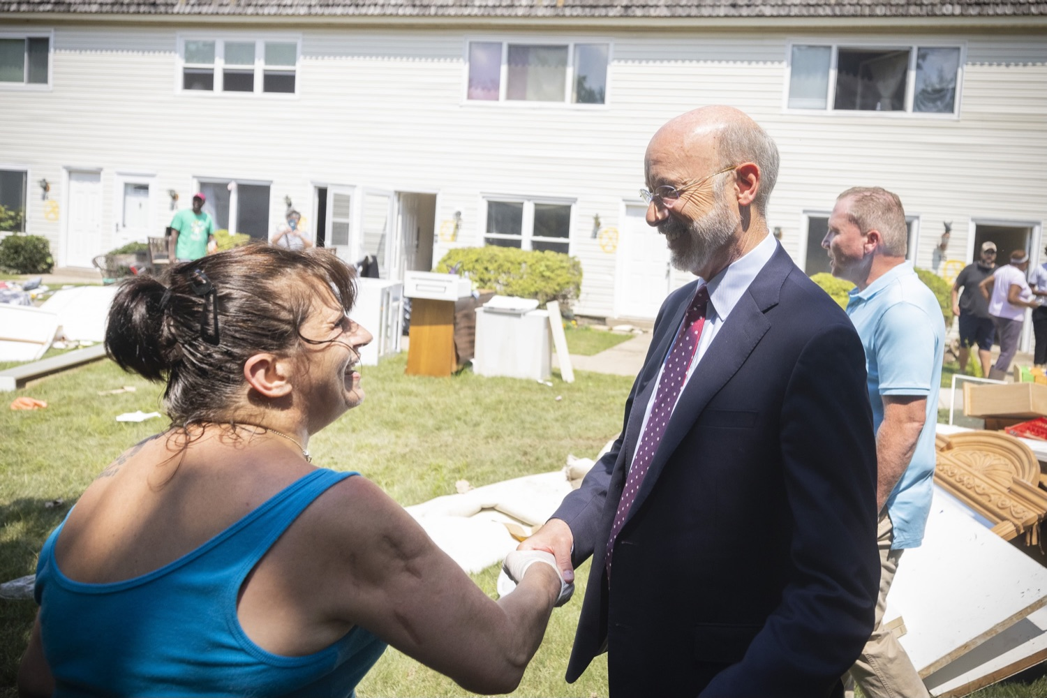 """<a href=""""https://filesource.wostreaming.net/commonwealthofpa/photo/18934_gov_stormDamage_07.jpg"""" target=""""_blank"""">⇣Download Photo<br></a>Gov. Wolf Tours Bucks County Communities Affected by Severe Weather, Flooding"""