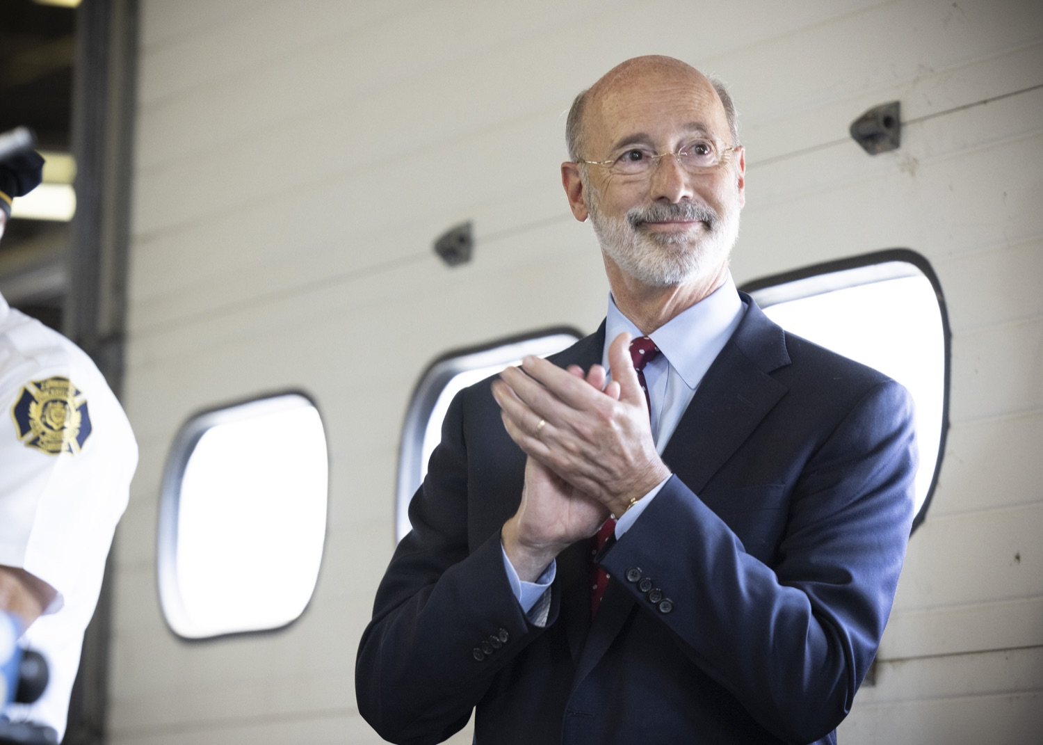 """<a href=""""https://filesource.wostreaming.net/commonwealthofpa/photo/18936_gov_taskforceone_dz_011.jpg"""" target=""""_blank"""">⇣Download Photo<br></a>Governor Tom Wolf thanked members of Pennsylvania-Task Force 1 (PA- TF1), who returned today to Philadelphia after spending two weeks assisting with search and rescue efforts at the site of the recent deadly building collapse in Surfside, Florida.  Philadelphia, Pa.  July 16, 2021"""
