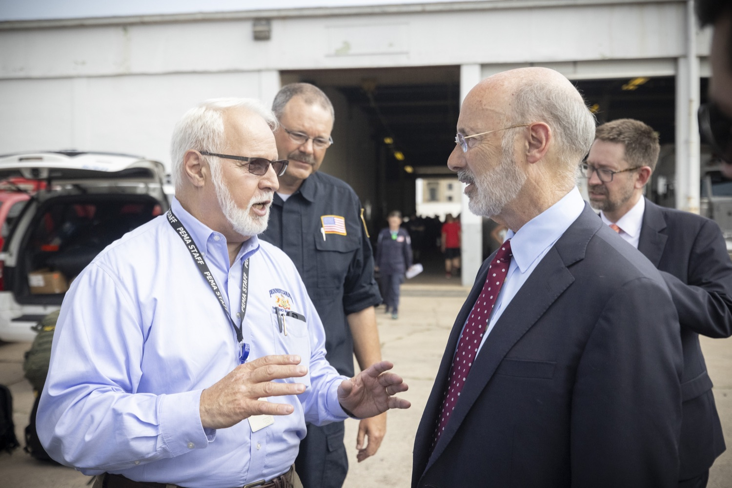 """<a href=""""https://filesource.wostreaming.net/commonwealthofpa/photo/18936_gov_taskforceone_dz_021.jpg"""" target=""""_blank"""">⇣Download Photo<br></a>Governor Tom Wolf thanked members of Pennsylvania-Task Force 1 (PA- TF1), who returned today to Philadelphia after spending two weeks assisting with search and rescue efforts at the site of the recent deadly building collapse in Surfside, Florida.  Philadelphia, Pa.  July 16, 2021"""