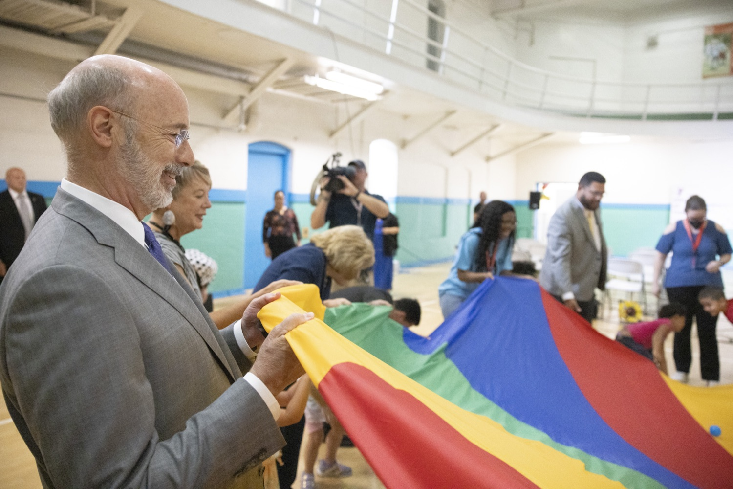 """<a href=""""https://filesource.wostreaming.net/commonwealthofpa/photo/18940_gov_childhooded_dz_021.jpg"""" target=""""_blank"""">⇣Download Photo<br></a>Governor Tom Wolf today was joined by advocates and legislative members to celebrate the $30 million increase in early childhood education funding in the state budget at the YMCA in Reading. This new funding will allow an additional 3,270 children to enroll in the states high-quality early learning programs.  Reading, PA - July 19, 2021"""