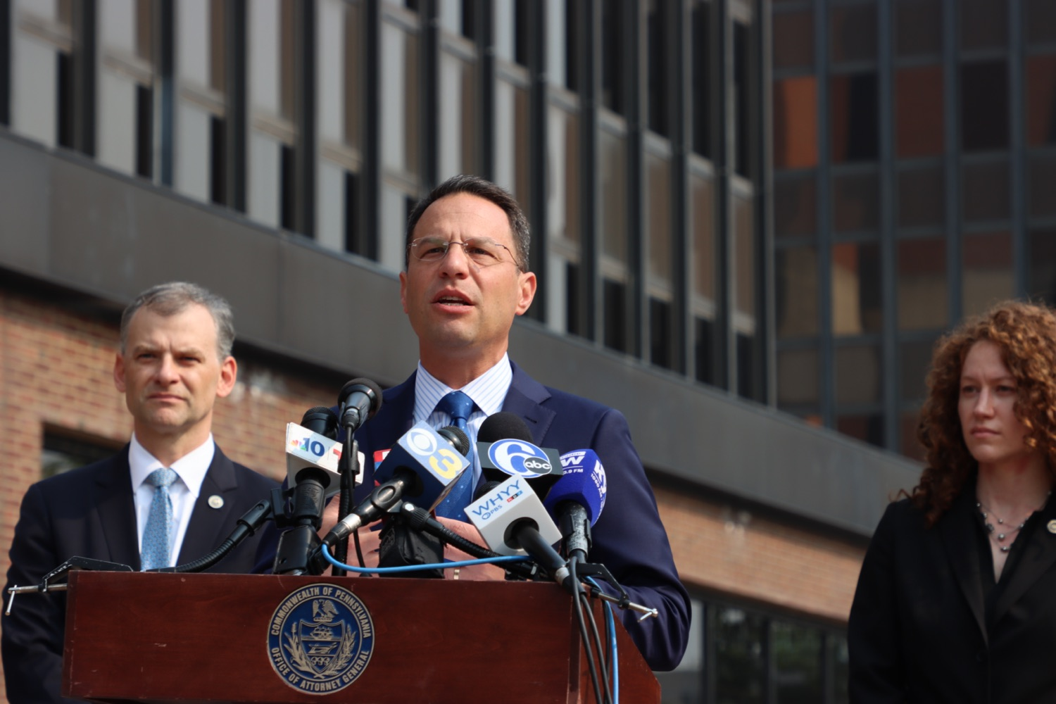 """<a href=""""https://filesource.wostreaming.net/commonwealthofpa/photo/18943_oag_USPSphila_00002.JPG"""" target=""""_blank"""">⇣Download Photo<br></a>AG Shapiro Takes Postmaster DeJoy To Court Over Illegal Cuts Hurting Seniors, Veterans"""