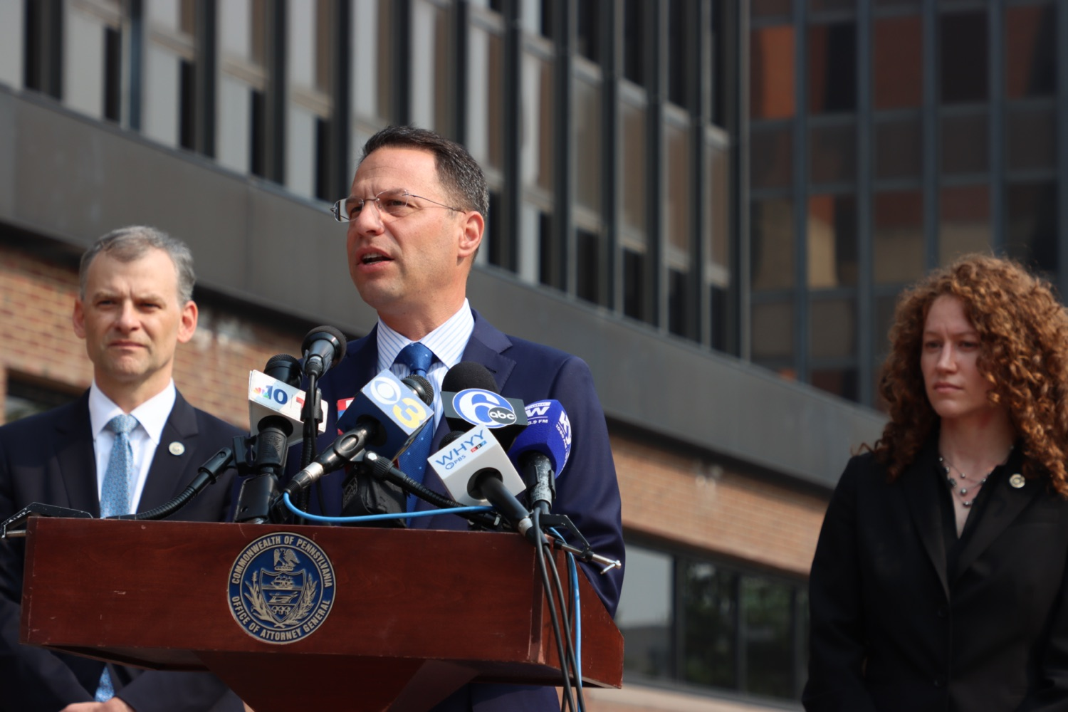 """<a href=""""https://filesource.wostreaming.net/commonwealthofpa/photo/18943_oag_USPSphila_00003.JPG"""" target=""""_blank"""">⇣Download Photo<br></a>AG Shapiro Takes Postmaster DeJoy To Court Over Illegal Cuts Hurting Seniors, Veterans"""