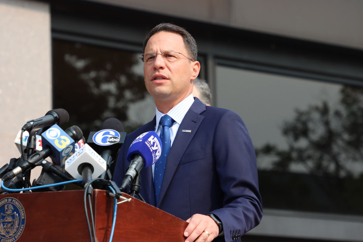 """<a href=""""https://filesource.wostreaming.net/commonwealthofpa/photo/18943_oag_USPSphila_00004.JPG"""" target=""""_blank"""">⇣Download Photo<br></a>AG Shapiro Takes Postmaster DeJoy To Court Over Illegal Cuts Hurting Seniors, Veterans"""