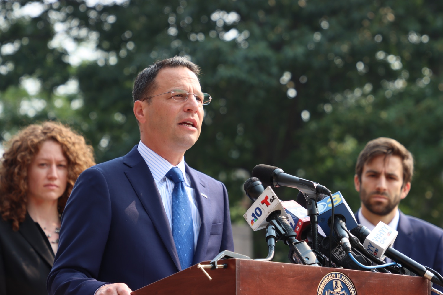 """<a href=""""https://filesource.wostreaming.net/commonwealthofpa/photo/18943_oag_USPSphila_00005.JPG"""" target=""""_blank"""">⇣Download Photo<br></a>AG Shapiro Takes Postmaster DeJoy To Court Over Illegal Cuts Hurting Seniors, Veterans"""