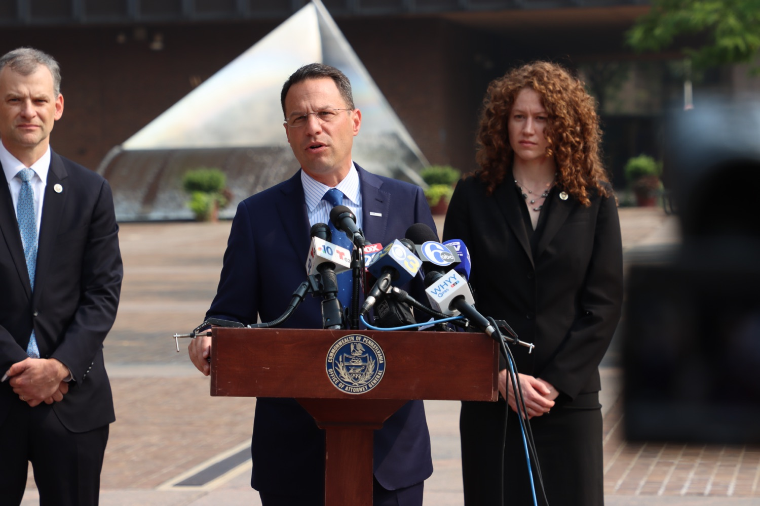 """<a href=""""https://filesource.wostreaming.net/commonwealthofpa/photo/18943_oag_USPSphila_00008.JPG"""" target=""""_blank"""">⇣Download Photo<br></a>AG Shapiro Takes Postmaster DeJoy To Court Over Illegal Cuts Hurting Seniors, Veterans"""