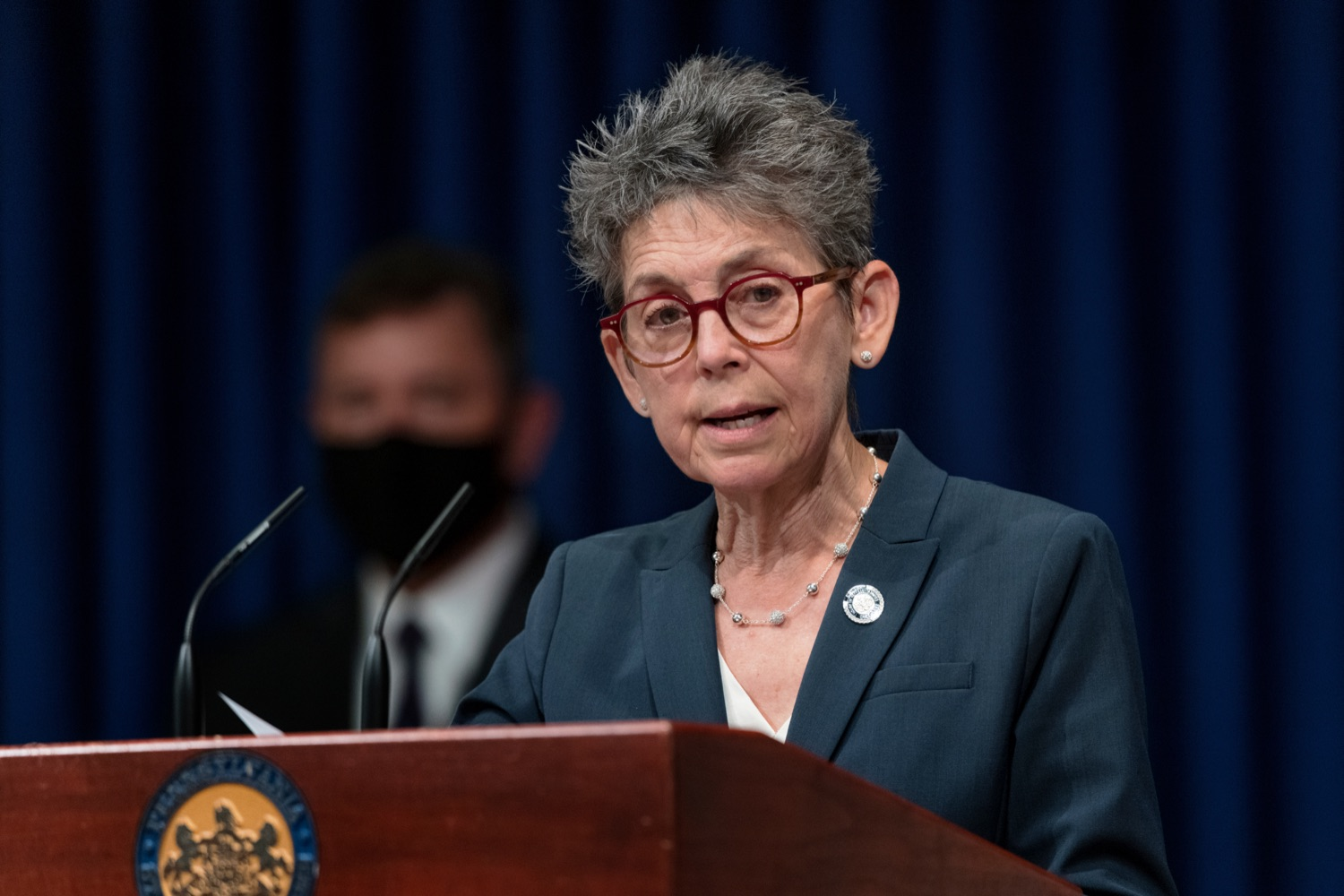 """<a href=""""https://filesource.wostreaming.net/commonwealthofpa/photo/19003_DCED_InnovationReport_NK_004.jpg"""" target=""""_blank"""">⇣Download Photo<br></a>Rep. Mary Jo Daley speaks during a press conference, which shared findings from a report created by a student team at Carnegie Mellon University on Pennsylvanias Innovation Economy and announce the creation of a new Innovation Economy Dashboard, which will help inform policymaking decisions based on reliable data, inside the Capitol Media Center on Wednesday, August 11, 2021."""