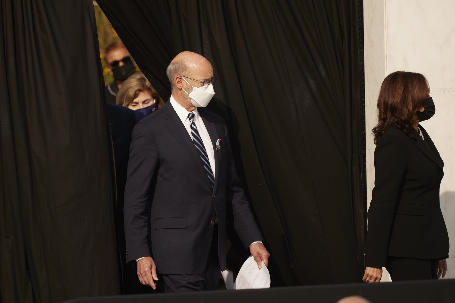 """<a href=""""https://filesource.wostreaming.net/commonwealthofpa/photo/19117_gov_Flight_93_Memorial_dz_502.JPG"""" target=""""_blank"""">⇣Download Photo<br></a>Pennsylvania Governor Tom Wolf arrives at the 20th annual September 11 observance.  Today, Governor Tom Wolf visited the Flight 93 National Memorial for the 20th annual September 11 observance. Gov. Wolf joined families and guests to honor the passengers and crew of Flight 93. Flight 93 National Memorial, Shanksville, PA - September 11, 2021"""