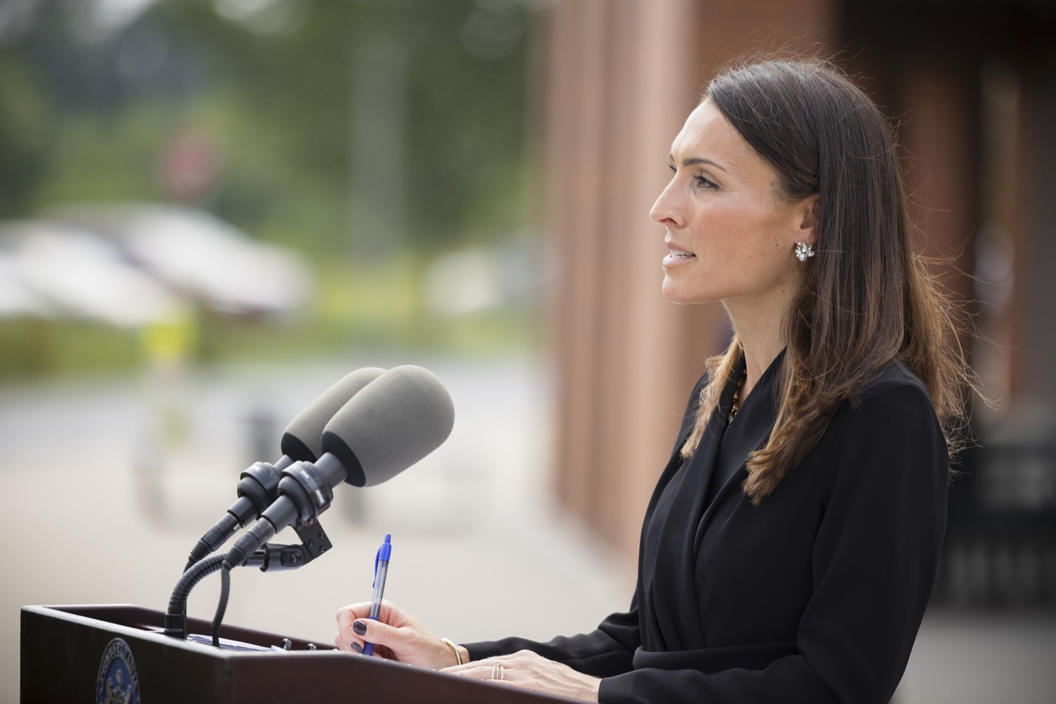 """<a href=""""https://filesource.wostreaming.net/commonwealthofpa/photo/19125_doh_breakthroughCases_dz_009.jpg"""" target=""""_blank"""">⇣Download Photo<br></a>Acting Secretary of Health Alison Beam speaking to the press.  The Pennsylvania Department of Health's report on COVID-19 post- vaccination cases, commonly known as breakthrough cases, shows the overwhelming majority of cases, hospitalizations and deaths in the state are among the unvaccinated.  Lancaster, PA - September 14, 2021"""