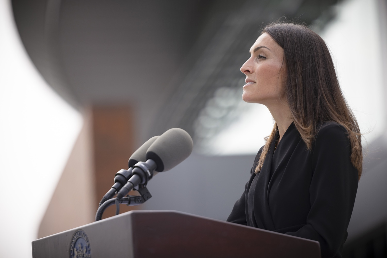 """<a href=""""https://filesource.wostreaming.net/commonwealthofpa/photo/19125_doh_breakthroughCases_dz_018.jpg"""" target=""""_blank"""">⇣Download Photo<br></a>Acting Secretary of Health Alison Beam speaking to the press.  The Pennsylvania Department of Health's report on COVID-19 post- vaccination cases, commonly known as breakthrough cases, shows the overwhelming majority of cases, hospitalizations and deaths in the state are among the unvaccinated.  Lancaster, PA - September 14, 2021"""