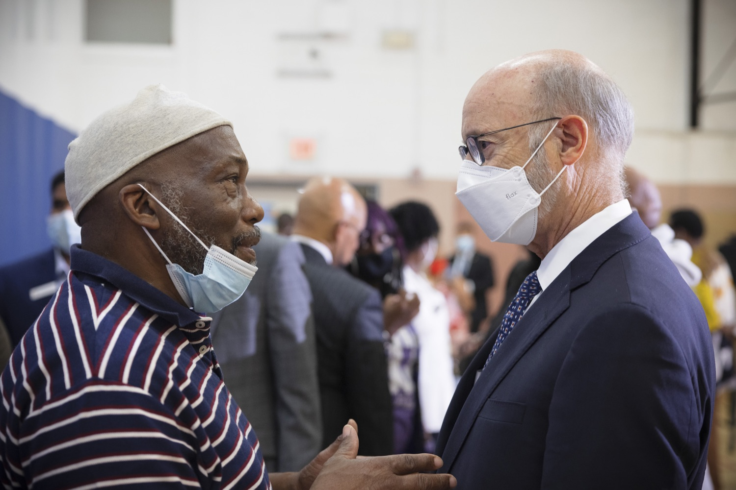 """<a href=""""https://filesource.wostreaming.net/commonwealthofpa/photo/20078_gov_gunviolence_dz_011.jpg"""" target=""""_blank"""">⇣Download Photo<br></a>Pennsylvania Governor Tom Wolf speaking with the community members.  Governor Tom Wolf today joined state lawmakers to remind communities and organizations that $24 million in state funding is available to address community violence.  Philadelphia, PA - September 23, 2021"""