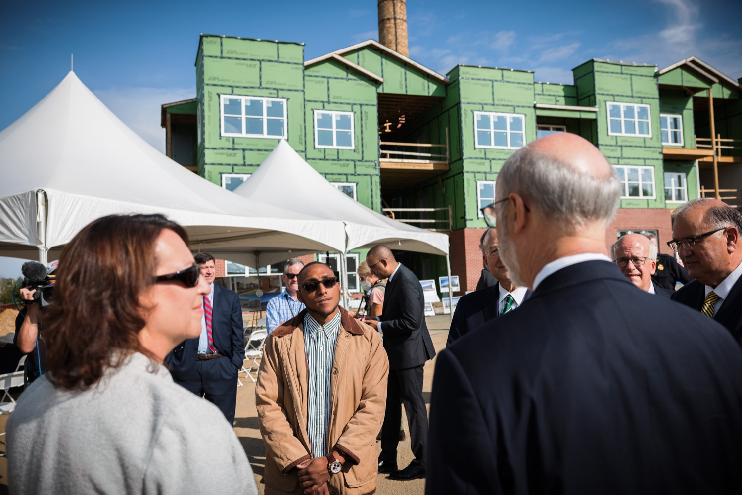 """<a href=""""https://filesource.wostreaming.net/commonwealthofpa/photo/20125_gov_economicDevelopment_dz_005.jpg"""" target=""""_blank"""">⇣Download Photo<br></a>Governor Tom Wolf touring the site of the Mill at Easton. Governor Tom Wolf today visited the City of Easton to highlight millions of dollars in state investments in several economic development projects that are revitalizing formerly vacant and blighted properties.  Easton, PA   October 8, 2021."""