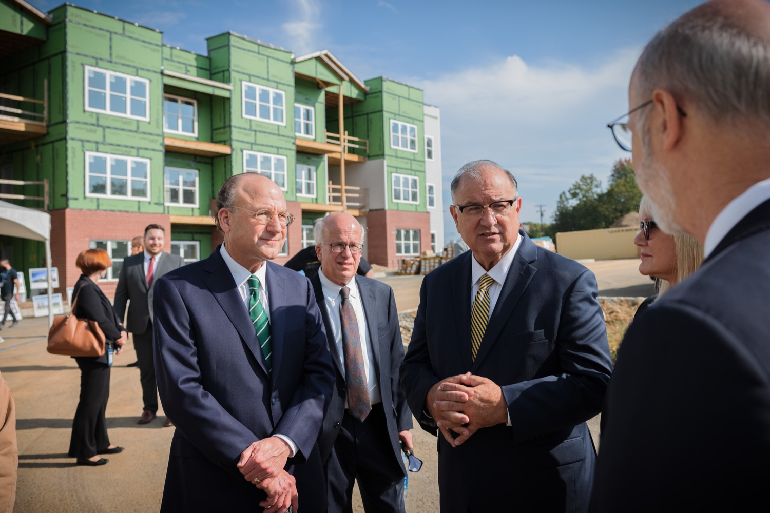 """<a href=""""https://filesource.wostreaming.net/commonwealthofpa/photo/20125_gov_economicDevelopment_dz_006.jpg"""" target=""""_blank"""">⇣Download Photo<br></a>Governor Tom Wolf touring the site of the Mill at Easton. Governor Tom Wolf today visited the City of Easton to highlight millions of dollars in state investments in several economic development projects that are revitalizing formerly vacant and blighted properties.  Easton, PA   October 8, 2021."""