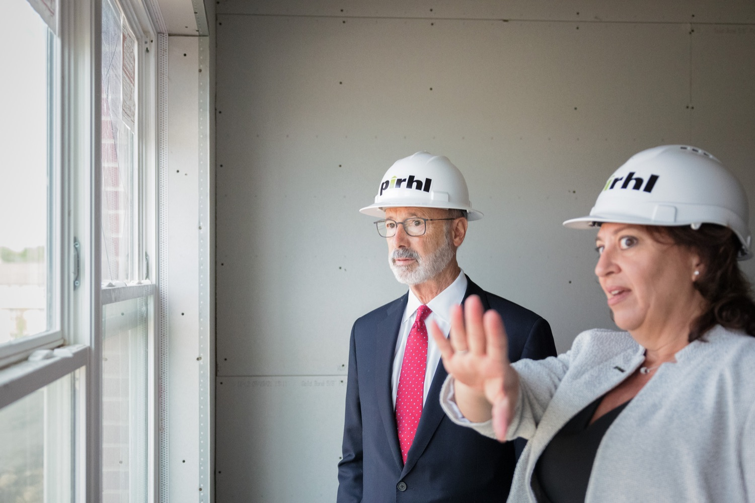 """<a href=""""https://filesource.wostreaming.net/commonwealthofpa/photo/20125_gov_economicDevelopment_dz_008.jpg"""" target=""""_blank"""">⇣Download Photo<br></a>Governor Tom Wolf touring the site of the Mill at Easton. Governor Tom Wolf today visited the City of Easton to highlight millions of dollars in state investments in several economic development projects that are revitalizing formerly vacant and blighted properties.  Easton, PA   October 8, 2021."""