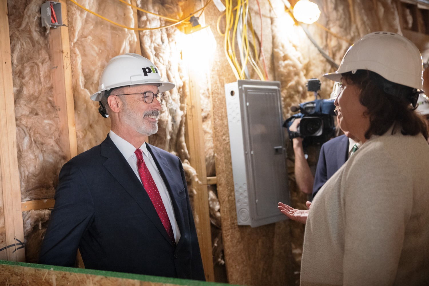 """<a href=""""https://filesource.wostreaming.net/commonwealthofpa/photo/20125_gov_economicDevelopment_dz_009.jpg"""" target=""""_blank"""">⇣Download Photo<br></a>Governor Tom Wolf touring the site of the Mill at Easton. Governor Tom Wolf today visited the City of Easton to highlight millions of dollars in state investments in several economic development projects that are revitalizing formerly vacant and blighted properties.  Easton, PA   October 8, 2021."""