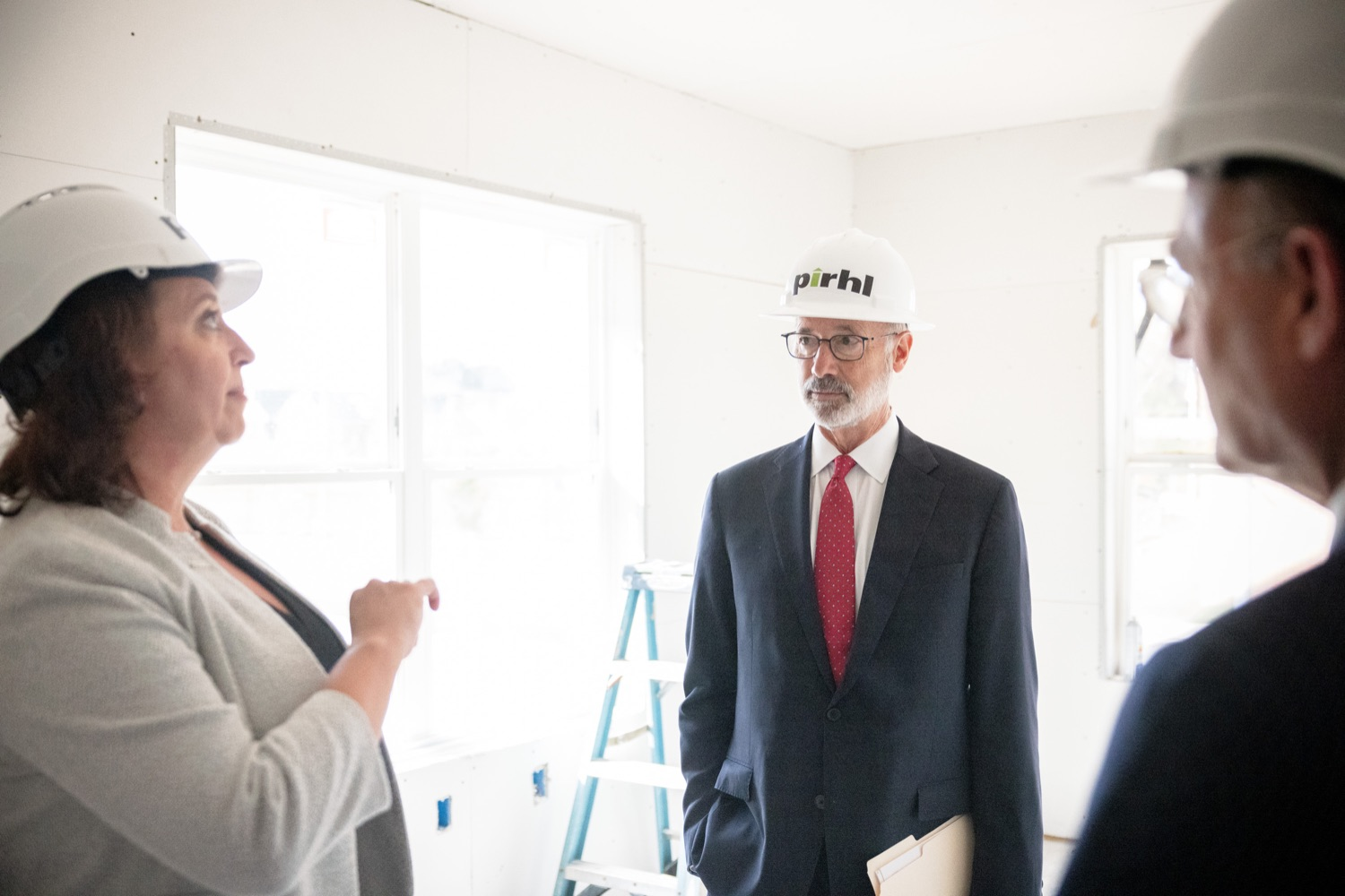 """<a href=""""https://filesource.wostreaming.net/commonwealthofpa/photo/20125_gov_economicDevelopment_dz_022.jpg"""" target=""""_blank"""">⇣Download Photo<br></a>Governor Tom Wolf touring the site of the Mill at Easton. Governor Tom Wolf today visited the City of Easton to highlight millions of dollars in state investments in several economic development projects that are revitalizing formerly vacant and blighted properties.  Easton, PA   October 8, 2021."""