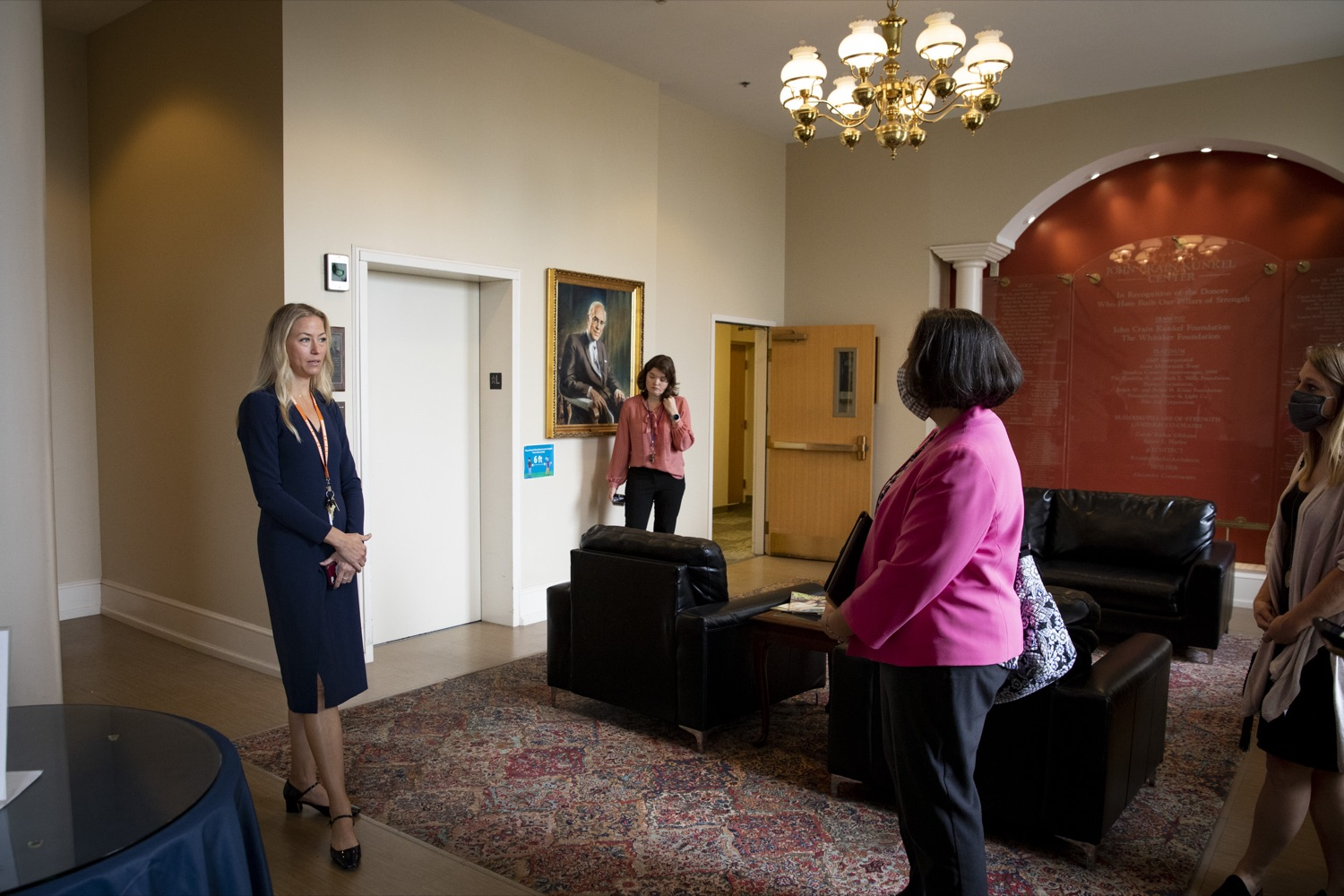"""<a href=""""https://filesource.wostreaming.net/commonwealthofpa/photo/20132_ddap_ywca_cz_05.jpg"""" target=""""_blank"""">⇣Download Photo<br></a>Department of Drug and Alcohol Programs (DDAP) Secretary Jen Smith tours the YWCA of Greater Harrisburg with Mary Quinn, YWCA President and CEO, on October 13, 2021."""