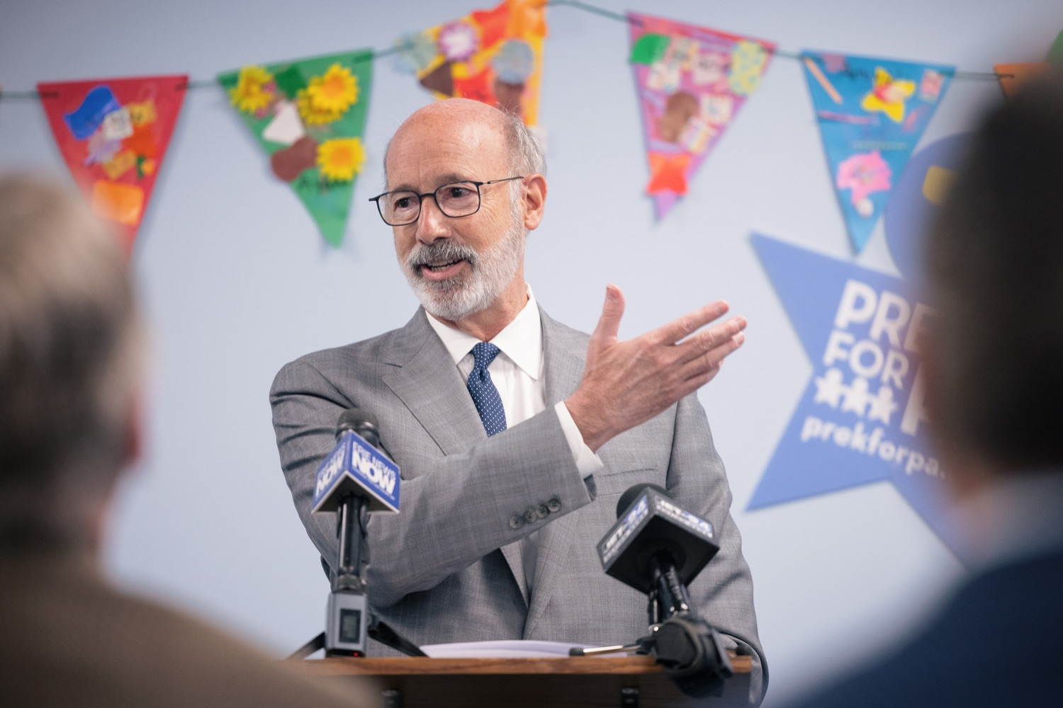 """<a href=""""https://filesource.wostreaming.net/commonwealthofpa/photo/20139_gov_childcare_dz_032.jpg"""" target=""""_blank"""">⇣Download Photo<br></a>Pennsylvania Governor Tom Wolf speaking with the press.  Governor Tom Wolf today visited Gilson Child Development Center in Erie to celebrate the $30 million increase in state funding to expand early childhood learning to more than 3,200 additional young children and the $655 million available in federal funding to stabilize childcare providers during the pandemic.  Erie, PA  October 12, 2021"""